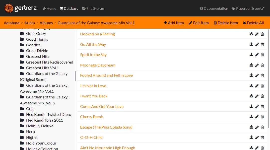 Gerbera - A free media server  Stream your media to devices